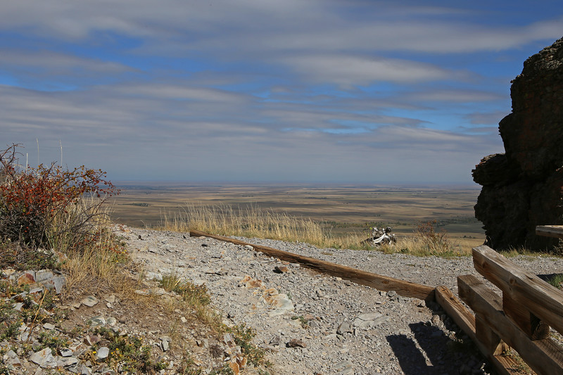 September 22, 2017 - Hike up Bear Butte, north of Sturgis. View north.