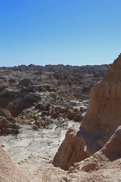 September 20, 2017 - Badlands National Park. View southwest from the Door/Window/Notch Trail parking lot.