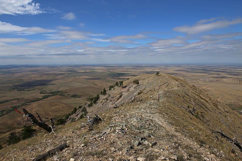 September 22, 2017 - Hike up Bear Butte, north of Sturgis. View northwest from the summit.