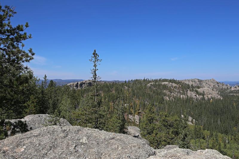 September 18, 2017 - Custer State Park. Hiking up Black Elk (Harney) Peak. View along the trail.