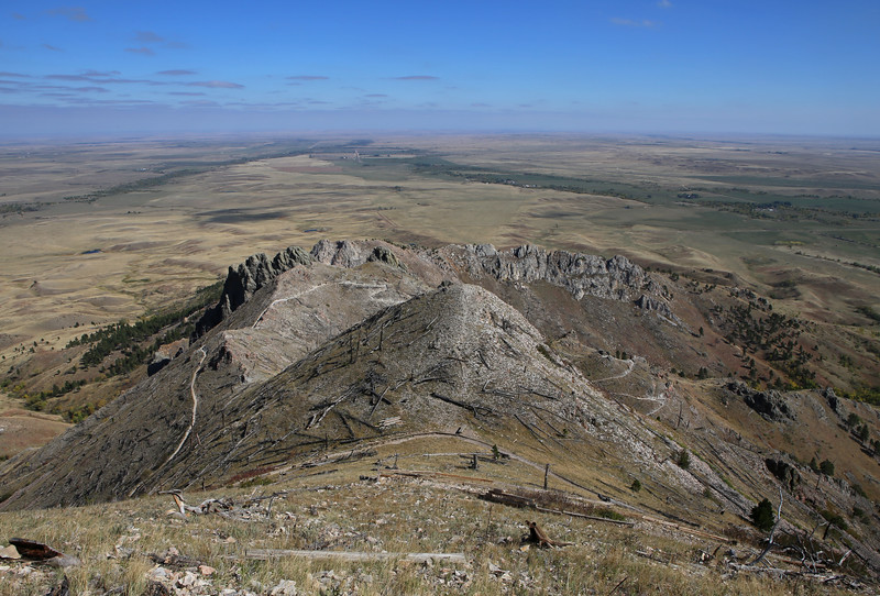 September 22, 2017 - Hike up Bear Butte, north of Sturgis. View east from below the summit.
