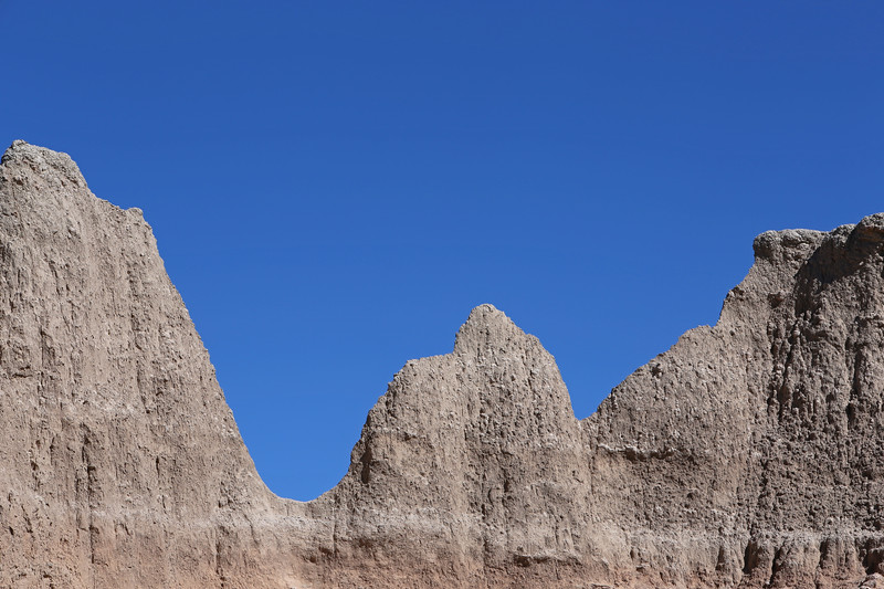 September 20, 2017 - Badlands National Park. View southeast from the Door/Window/Notch Trail parking lot.