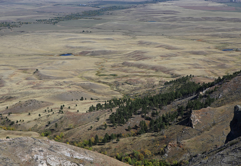 September 22, 2017 - Hike up Bear Butte, north of Sturgis. View of the plains north of the mountain.