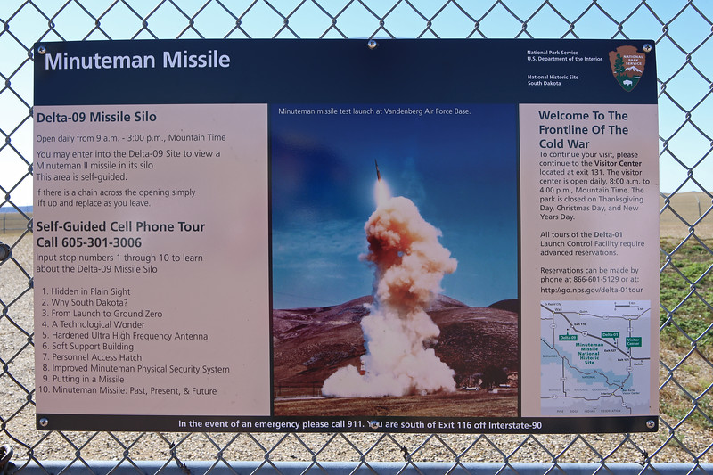 September 20, 2017 - Minuteman Missile National Historic Site Delta-09 Missile Silo off exit 116 on I-90 east of Rapid City.