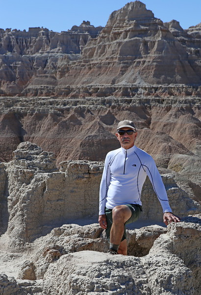 September 20, 2017 - Badlands National Park. Door Trail. View northwest from the Door Trail.