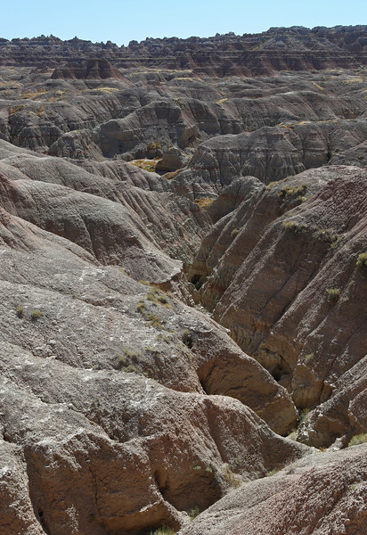 September 20, 2017 - Badlands National Park. View southwest from the Door Trail.