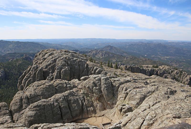 September 18, 2017 - Custer State Park. Hiking up Black Elk (Harney) Peak. View from the peak looking west.