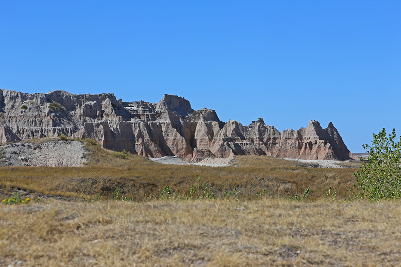 September 20, 2017 - Badlands National Park. View north from the Door/Window/Notch Trail parking lot towards the Castle Trail head.