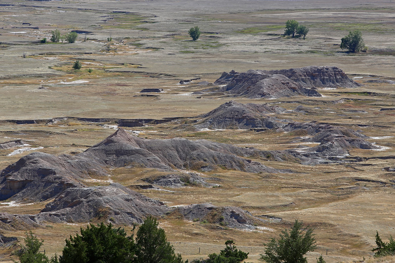 September 20, 2017 - Badlands National Park. View the White River Valley from the Cliff Shelf Nature Trail.