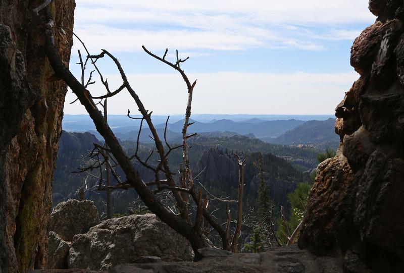 September 18, 2017 - Custer State Park. Hiking up Black Elk (Harney) Peak. View southeast from near the peak.