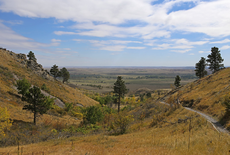 September 22, 2017 - Hike up Bear Butte, north of Sturgis. View south.