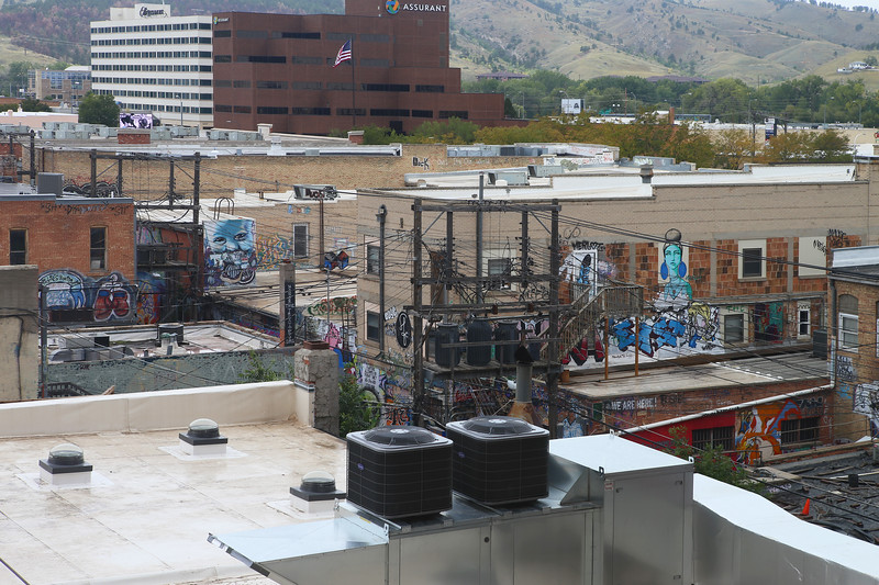 """September 23, 2017 - Art Alley in Rapid City from the historic Hotel Alex Johnson. See: <a href=""""https://goo.gl/j6uwKV"""">https://goo.gl/j6uwKV</a>"""