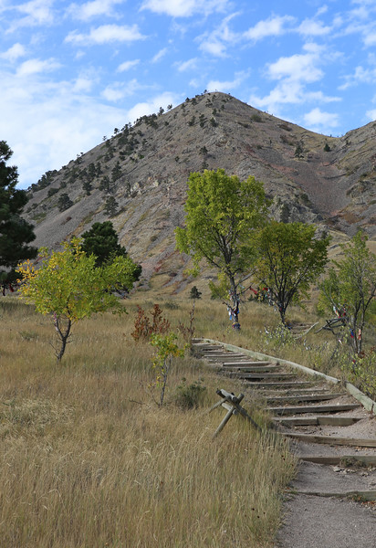 September 22, 2017 - Hike up Bear Butte, north of Sturgis. View of the summit from the trail head.