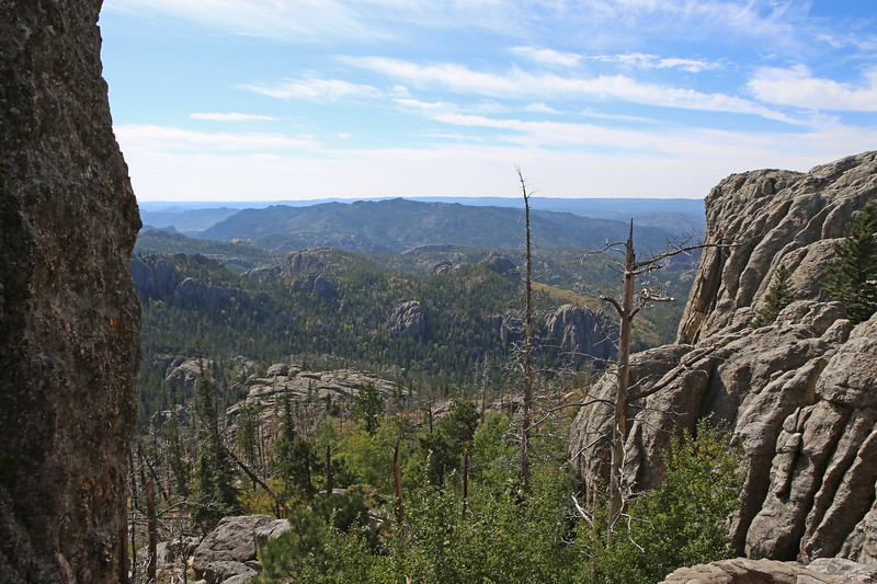 September 18, 2017 - Custer State Park. Hiking up Black Elk (Harney) Peak. View from the trail.