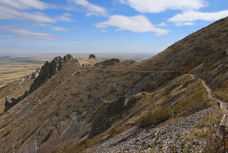 September 22, 2017 - Hike up Bear Butte, north of Sturgis. View east.
