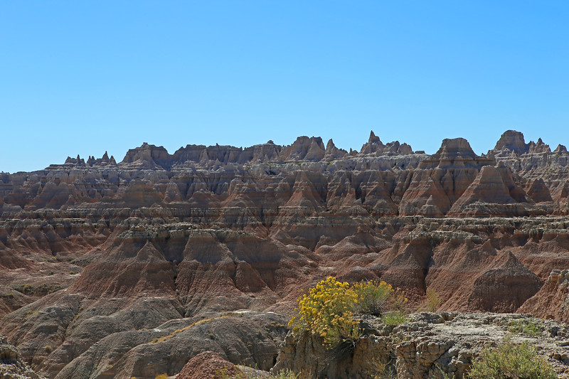 September 20, 2017 - Badlands National Park.  View west from the Door Trail.