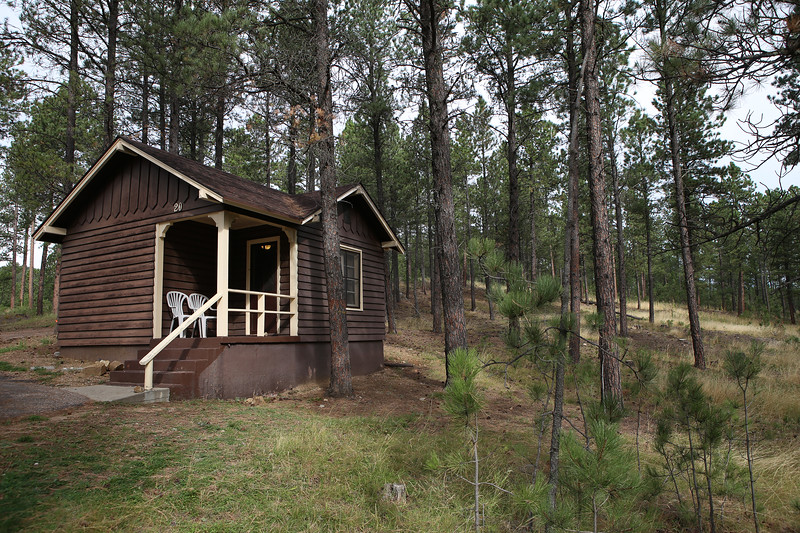 September 19, 2017 - Custer State Park. Custer State Park, Legion Lake cabins. Our little cabin in the woods.