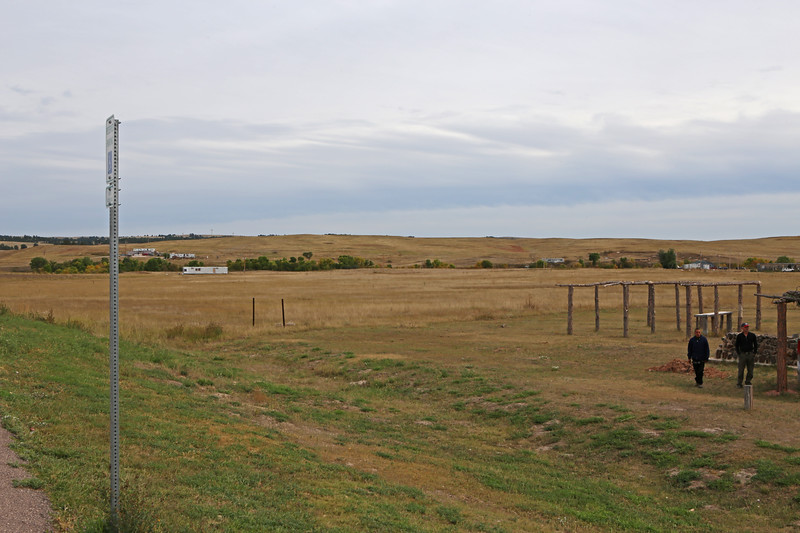 September 19, 2017 - Pine Ridge Reservation and the Memorial to the Massacre of Wounded Knee. Site of Big Foot's camp and the massacre.