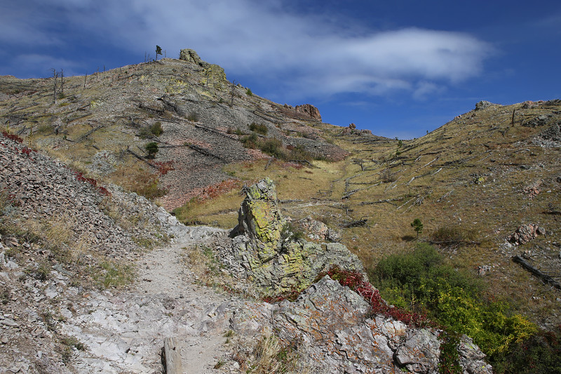 September 22, 2017 - Hike up Bear Butte, north of Sturgis. View north up the trail.
