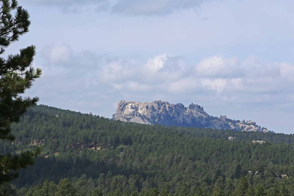 September 17, 2017 - Mount Rushmore National Memorial from Iron Mountain Road.