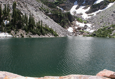 Bear Lake area, west end of the trail at Emerald Lake.