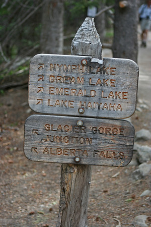 Bear Lake area, parking lot sign.