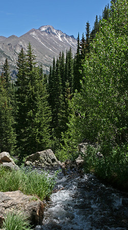 Bear Lake area, falls below Emerald Lake.