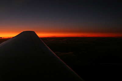 Sunset somewhere over the four corners of Utah, Arizona, New Mexico, and Colorado.