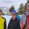 Zephyr Adventures. February 17, 2014. Along the Madison River, West Entrance Road, Yellowstone National Park. L-R: Tony Santucci, Rhonda Jarrett Deborah Sanders (behind), and van Driver.