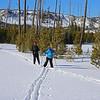 Zephyr Adventures. February 17, 2014. Loop Trail, Upper Geyser Basin, Yellowstone National Park. L-R: Micheal Henderson, Rhonda Jarrett.