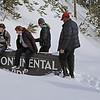 Zephyr Adventures. February 18, 2014. The Continental Divide, Yellowstone National Park. L-R: Sonya Mapp, Kris Thomas Keys, Michael Henderson.