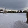 Zephyr Adventures. February 17, 2014. Mid-morning sky looking east towards Yellowstone National Park, Kelly Inn, West Yellowstone, MT.