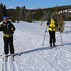 Zephyr Adventures. February 17, 2014. Loop Trail, Upper Geyser Basin, Yellowstone National Park. L-R: Cindy Anderson, Tony Santucci.