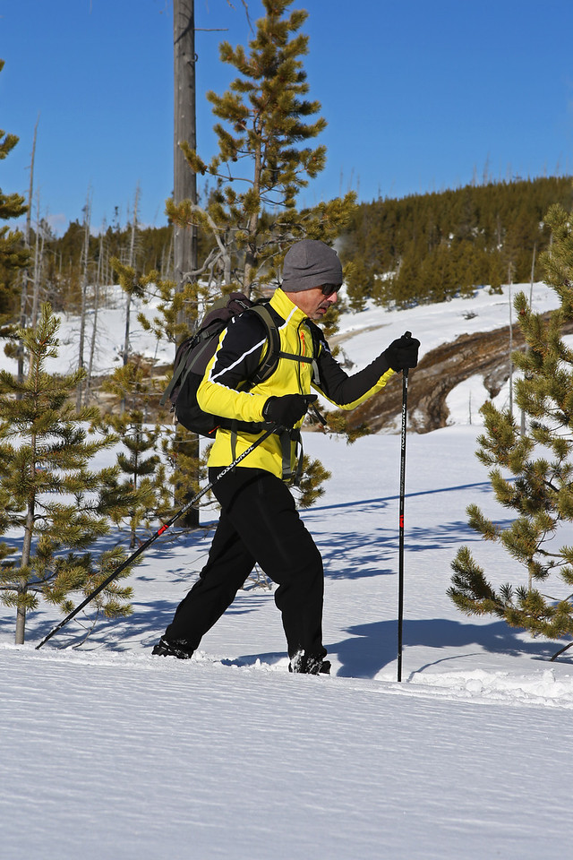 Zephyr Adventures. February 17, 2014. Loop Trail, Upper Geyser Basin, Yellowstone National Park. Tony Santucci.