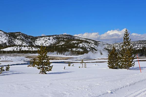 Zephyr Adventures. February 17, 2014. Upper Geyser Basin along the Firehole River, Yellowstone National Park.