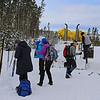 Zephyr Adventures. February 18, 2014. Preparing to ski the  Lone Star Geyser Trial, Yellowstone National Park.