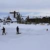 Zephyr Adventures. February 19, 2014. Looking towards the Old Faithful Inn from the Snow Lodge, Yellowstone National Park.