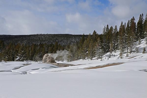Zephyr Adventures. February 18, 2014. Lone Star Geyser, Yellowstone National Park.