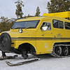 Zephyr Adventures. February 17, 2014. Typical Bombardier snowcat. Madison, Yellowstone National Park.
