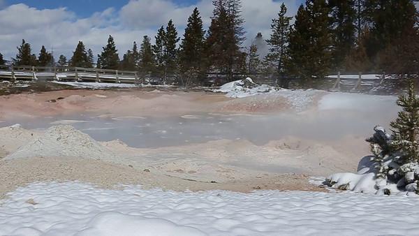 Zephyr Adventures. February 19, 2014. Fountain Paint Pots, Lower Geyser Basin, Yellowstone National Park.