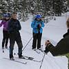 Zephyr Adventures. February 18, 2014. Lone Star Geyser Trial, Yellowstone National Park. L-R: Linda Jellison, Sonya Mapp, Rhonda Jarrett, Cindy Anderson.