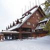 Zephyr Adventures. February 17, 2014. Closed for the season. Old Faithful Inn, Yellowstone National Park.