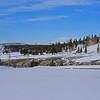 Zephyr Adventures. February 17, 2014. Trial from Castle Geyser across the Firehole River, Upper Geyser Basin, Yellowstone National Park.