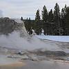 Zephyr Adventures. February 17, 2014. Castle Geyser, Upper Geyser Basin, Yellowstone National Park.