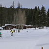 Zephyr Adventures. February 16, 2014. Lone Mountain Ranch, Big Sky, MT. Tony Santucci in yellow.