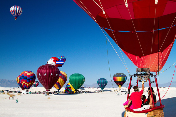 2012 White Sands Balloon Launch; White Sands National Monument New Mexico