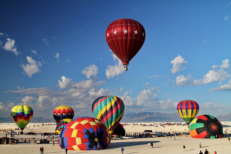 Balloon Launch; White Sands National Monument; New Mexico; September 2011