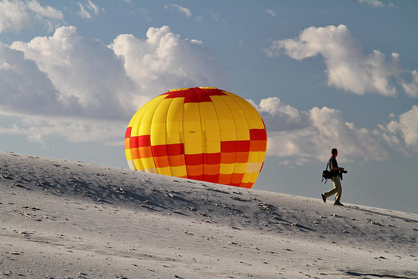 Balloon Launch; White Sands National Monument; September 2011 , New Mexico