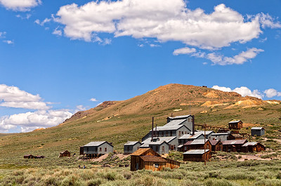 The Standard Stamping Mill was one of ten stamping mills that operated along Bodie Ridge.