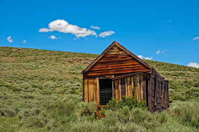 Unidentified building at Bodie State Park, California.